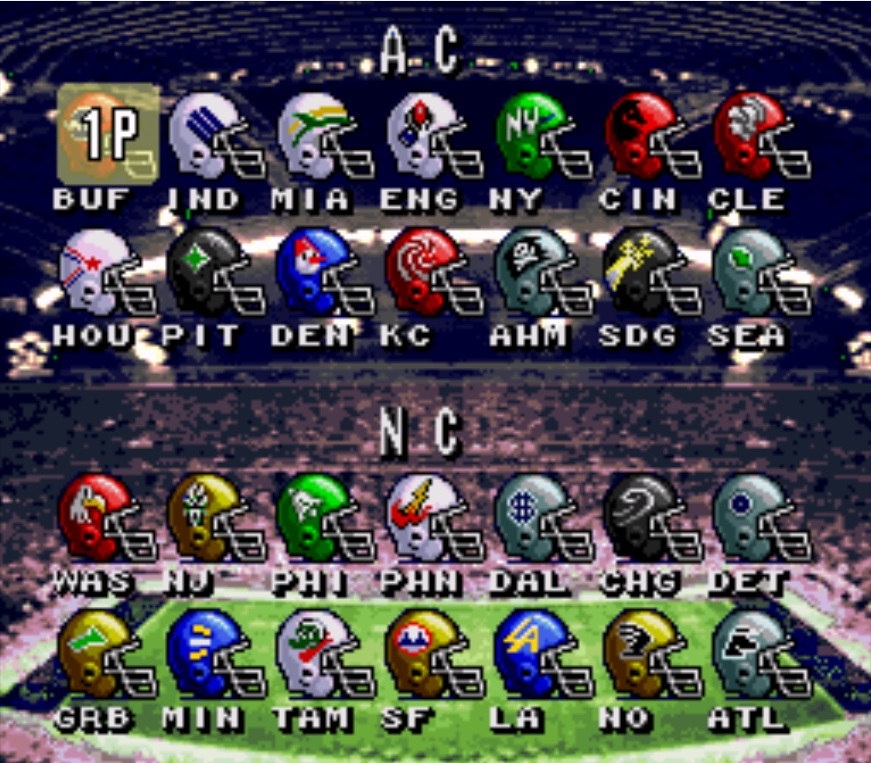 abc monday night football snes controls