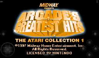 Screenshot Thumbnail / Media File 1 for Arcade's Greatest Hits - The Atari Collection 1 (Europe)