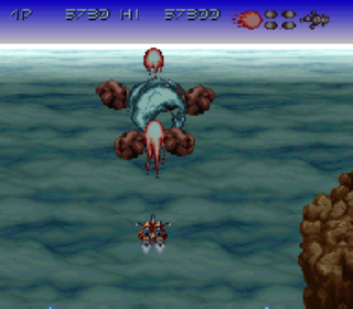 Screenshot Thumbnail / Media File 1 for Axelay (Japan)