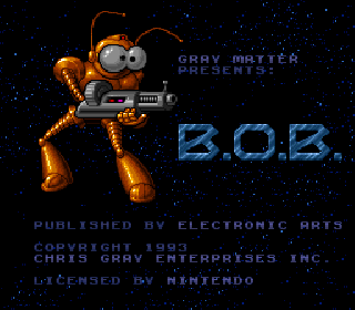 Screenshot Thumbnail / Media File 1 for B.O.B. (Europe)