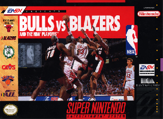 Screenshot Thumbnail / Media File 1 for Bulls vs Blazers and the NBA Playoffs (USA) (Rev A)