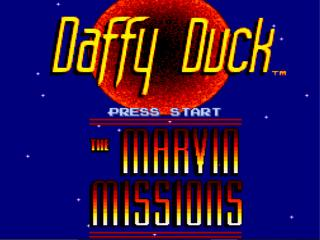 Screenshot Thumbnail / Media File 1 for Daffy Duck - The Marvin Missions (Europe)