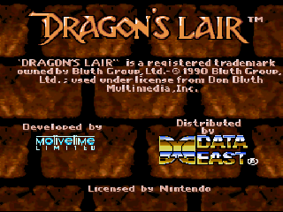 Screenshot Thumbnail / Media File 1 for Dragon's Lair (Europe) (En,Fr,De,Es,It,Nl,Sv)