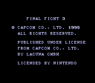 Screenshot Thumbnail / Media File 1 for Final Fight 3 (Europe)