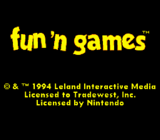Screenshot Thumbnail / Media File 1 for Fun 'n Games (Europe)