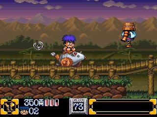 Screenshot Thumbnail / Media File 1 for Ganbare Goemon 2 - Kiteretsu Shougun Magginesu (Japan)