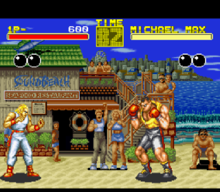 Screenshot Thumbnail / Media File 1 for Garou Densetsu - Shukumei no Tatakai (Japan) (Rev A)