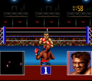 Screenshot Thumbnail / Media File 1 for George Foreman's KO Boxing (USA) (Rev A)