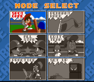 Screenshot Thumbnail / Media File 1 for Hakunetsu Pro Yakyuu '93 - Ganba League (Japan) (Beta)