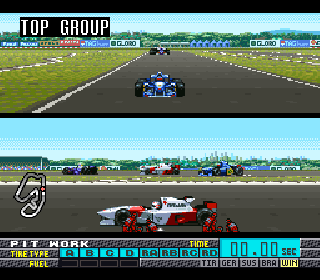 Screenshot Thumbnail / Media File 1 for Human Grand Prix III - F1 Triple Battle (Japan)