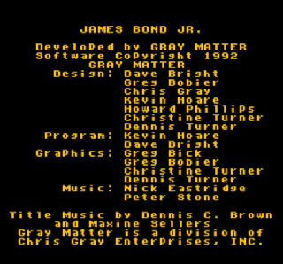 Screenshot Thumbnail / Media File 1 for James Bond Jr. (USA)
