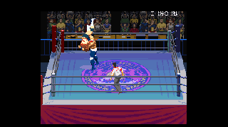 Screenshot Thumbnail / Media File 1 for Jikkyou Power Pro Wrestling '96 - Max Voltage (Japan)