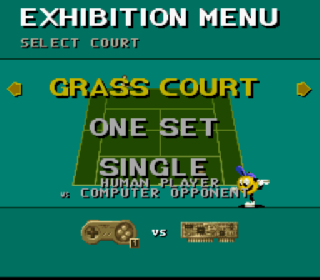 Screenshot Thumbnail / Media File 1 for Jimmy Connors Pro Tennis Tour (Japan)