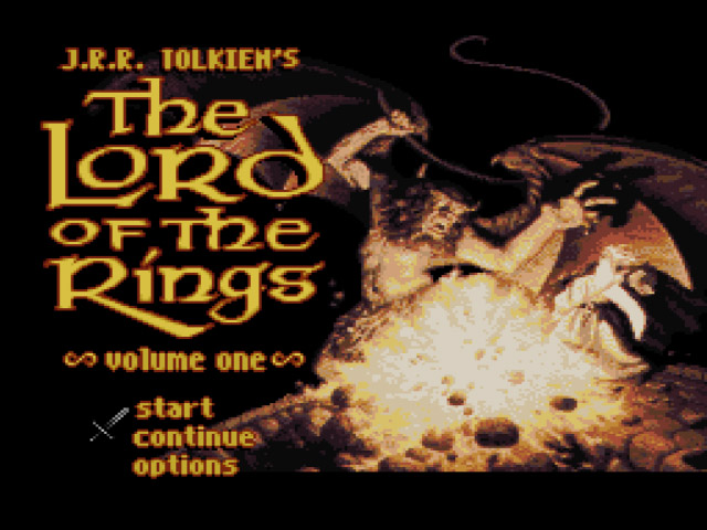 j r r tolkien s the lord of the rings volume one usa rom snes