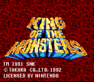 Screenshot Thumbnail / Media File 1 for King of the Monsters (Europe)