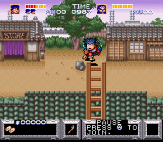 Screenshot Thumbnail / Media File 1 for Legend of the Mystical Ninja, The (Europe)
