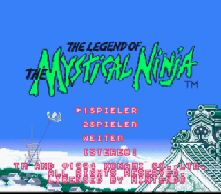 Screenshot Thumbnail / Media File 1 for Legend of the Mystical Ninja, The (Germany)