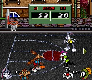 Screenshot Thumbnail / Media File 1 for Looney Tunes Basketball (Europe)