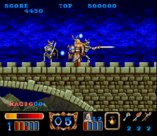 Screenshot Thumbnail / Media File 1 for Magic Sword (Europe)