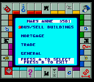 Screenshot Thumbnail / Media File 1 for Monopoly (USA) (Rev A)