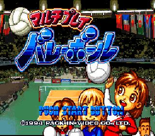 Multi Play Volleyball (Japan) ROM < SNES ROMs   Emuparadise