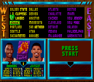 Screenshot Thumbnail / Media File 1 for NBA Jam - Tournament Edition (USA)