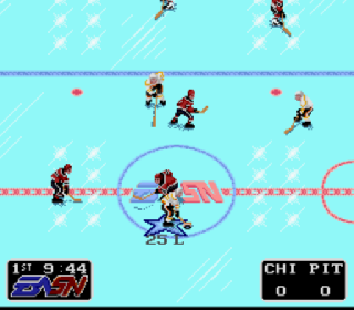 Screenshot Thumbnail / Media File 1 for NHLPA Hockey '93 (Europe)
