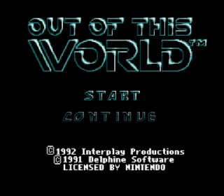 Screenshot Thumbnail / Media File 1 for Out of This World (USA) (Beta)