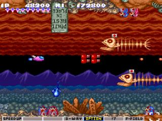 Screenshot Thumbnail / Media File 1 for Parodius - Non-Sense Fantasy (Europe)