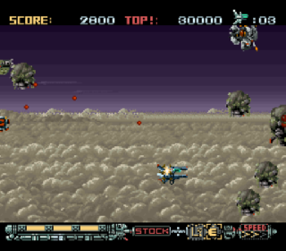 Screenshot Thumbnail / Media File 1 for Phalanx - The Enforce Fighter A-144 (Europe)