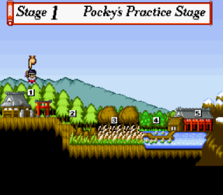 Screenshot Thumbnail / Media File 1 for Pocky & Rocky 2 (Europe)