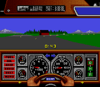 Screenshot Thumbnail / Media File 1 for Race Drivin' (Europe)