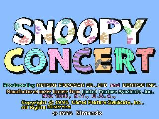 Screenshot Thumbnail / Media File 1 for Snoopy Concert (Japan)