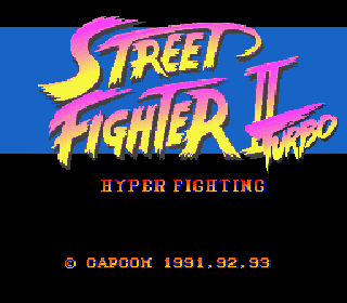 Screenshot Thumbnail / Media File 1 for Street Fighter II Turbo - Hyper Fighting (Japan) (Rev 0A)