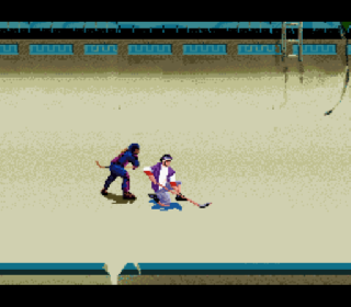 Screenshot Thumbnail / Media File 1 for Street Hockey '95 (USA)