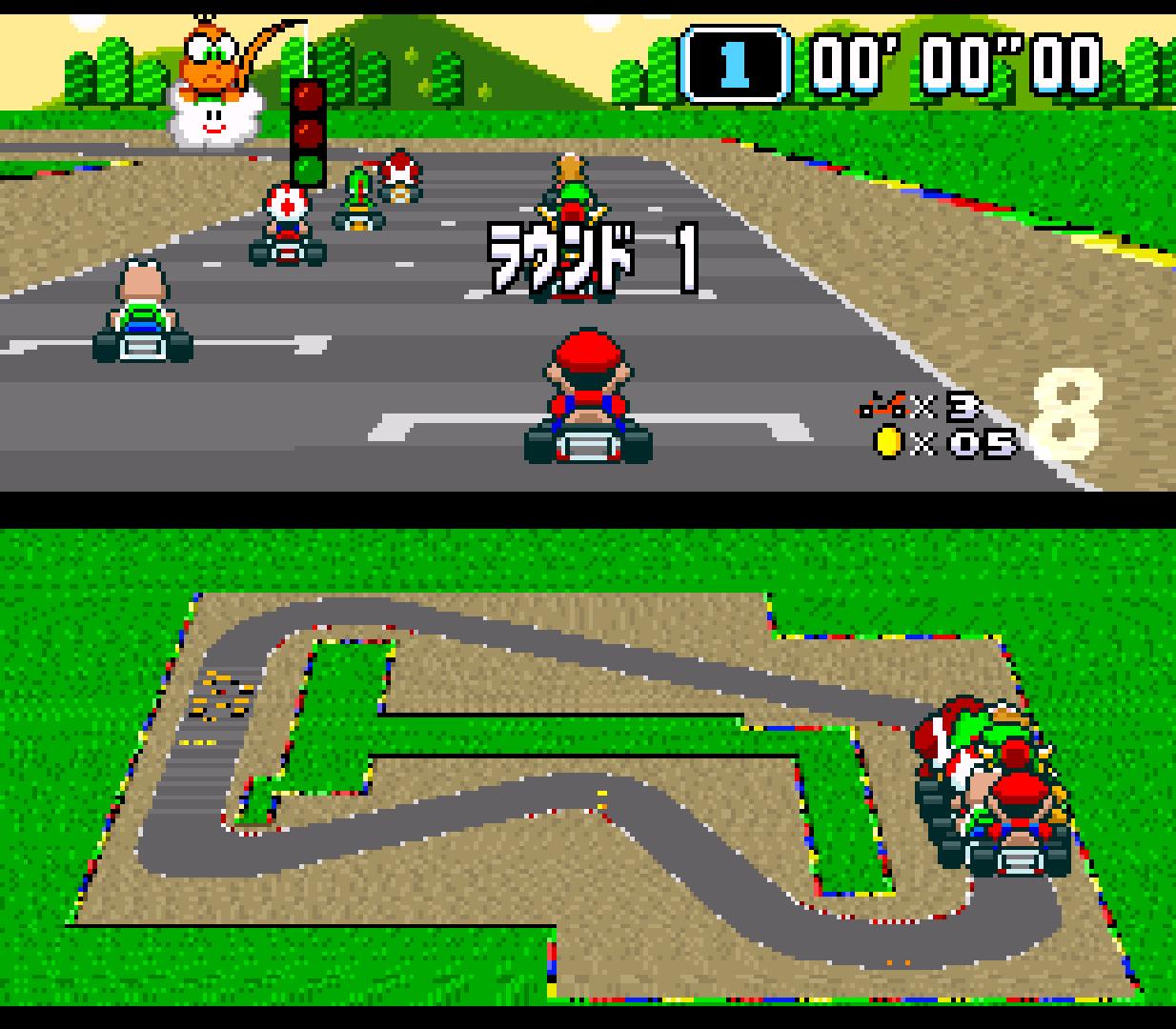 Snes Car Game Dash