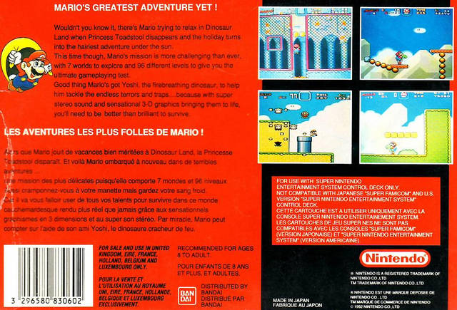 Super Mario World (Europe) (Rev A) ROM < SNES ROMs | Emuparadise