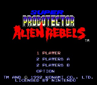 rom snes super probotector alien rebels