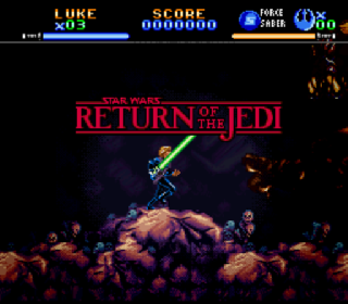 Screenshot Thumbnail / Media File 1 for Super Star Wars - Return of the Jedi (Europe) (Rev A)
