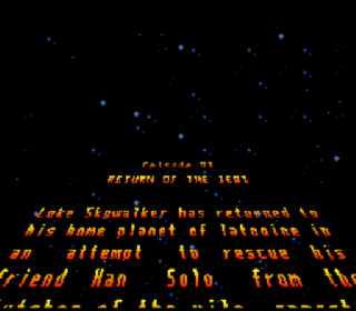 Screenshot Thumbnail / Media File 1 for Super Star Wars - Return of the Jedi (USA) (Rev A)
