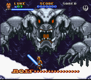 Screenshot Thumbnail / Media File 1 for Super Star Wars - The Empire Strikes Back (Europe) (Beta)