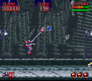 Screenshot Thumbnail / Media File 1 for Super Turrican 2 (USA) (Beta2)
