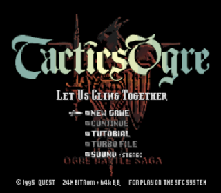 Screenshot Thumbnail / Media File 1 for Tactics Ogre - Let Us Cling Together (Japan) (Rev A)