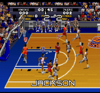 Screenshot Thumbnail / Media File 1 for Tecmo Super NBA Basketball (Europe)