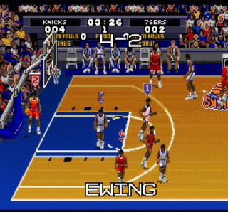 Screenshot Thumbnail / Media File 1 for Tecmo Super NBA Basketball (USA)
