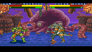 Screenshot Thumbnail / Media File 1 for Teenage Mutant Hero Turtles - Tournament Fighters (Europe)