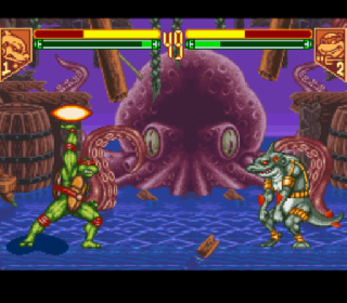 Screenshot Thumbnail / Media File 1 for Teenage Mutant Ninja Turtles - Tournament Fighters (Australia)