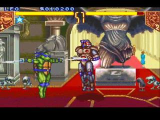 Screenshot Thumbnail / Media File 1 for Teenage Mutant Ninja Turtles - Tournament Fighters (USA)