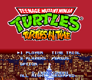 Screenshot Thumbnail / Media File 1 for Teenage Mutant Ninja Turtles - Turtles in Time (Japan)