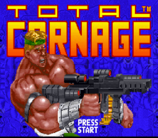 Screenshot Thumbnail / Media File 1 for Total Carnage (USA) (Beta2)